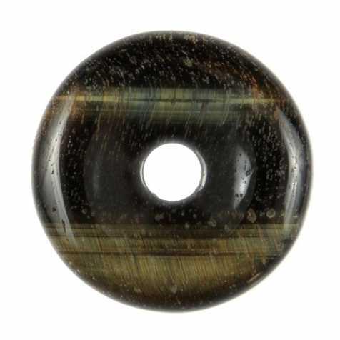 Donut Pi Chinois en oeil de faucon pour pendentif