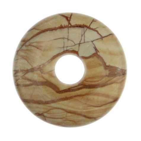 Donut Pi Chinois en jaspe paysage pour pendentif