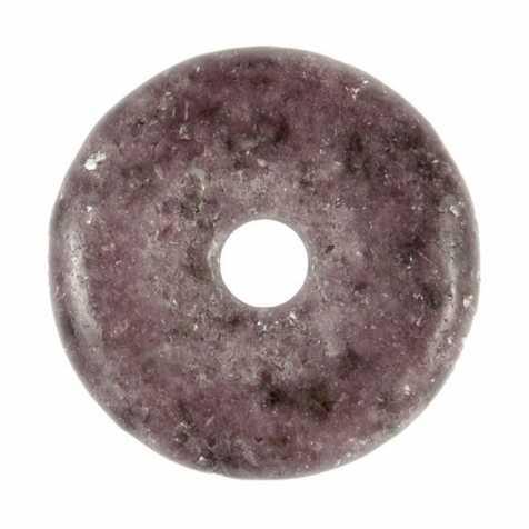 Donut Pi Chinois en lépidolite pour pendentif
