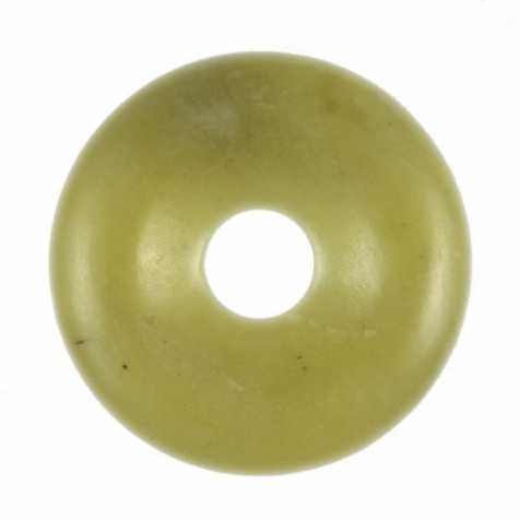 Donut Pi Chinois en serpentine pour pendentif