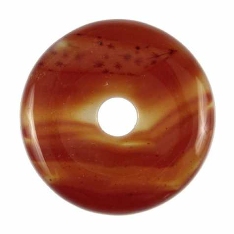 Donut Pi Chinois en cornaline pour pendentif