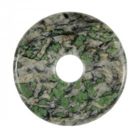 Donut Pi Chinois en smaragdite pour pendentif
