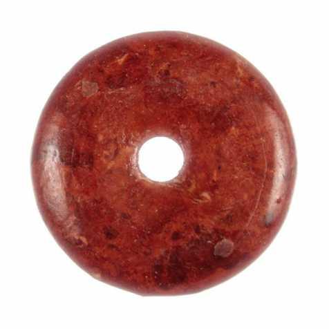 Donut Pi Chinois en racine de corail pour pendentif