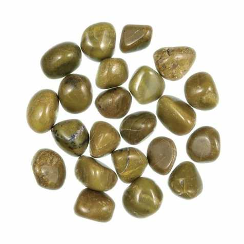 Pierres roulées opale verte - 2 à 3 cm - Lot de 2