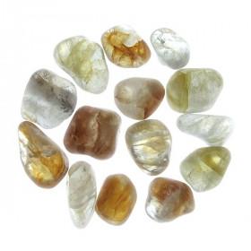 Pierres roulées quartz amphibiole - 2 à 4 cm - 30 grammes