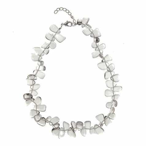 Collier de pierres roulées en cristal de roche