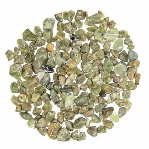 Petites pierres roulées péridot - 0.5 à 1 cm - 10 grammes