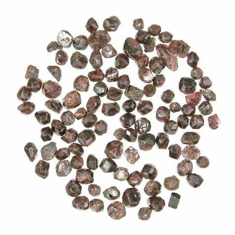 Pierres brutes cristaux de grenat almandin - 0.5 à 1 cm - 10 grammes