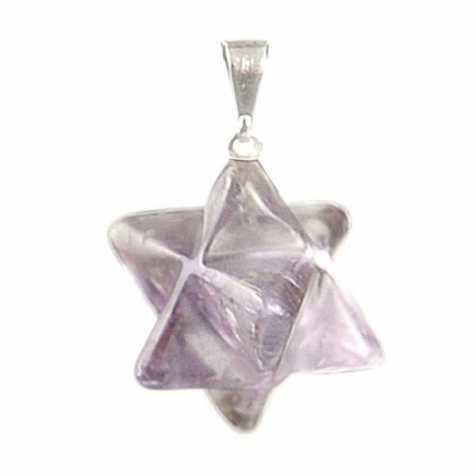 Pendentif étoile merkabah en améthyste