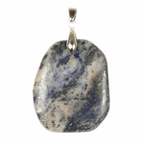 Pendentif pierre plate en sodalite