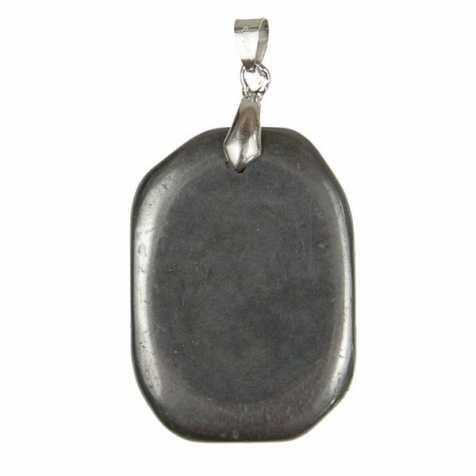 Pendentif pierre plate en hématite
