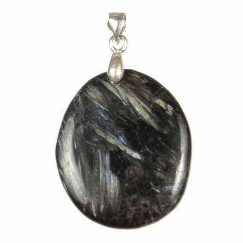 Pendentif pierre plate en astrophyllite