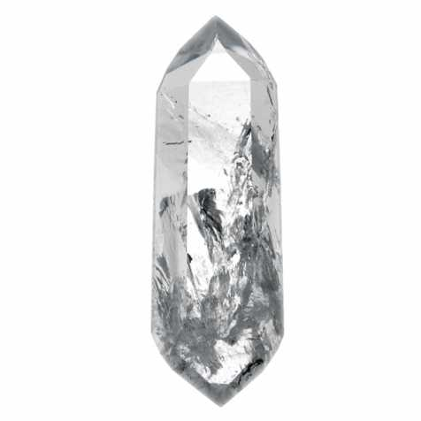 Pointe polie cristal bi-terminée