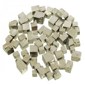 Pierres brutes pyrite cubique - 0.5 à 1.5 cm - 20 grammes