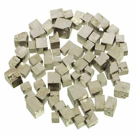 Pierres brutes pyrite cubique - 1 à 1.5 cm - 50 grammes