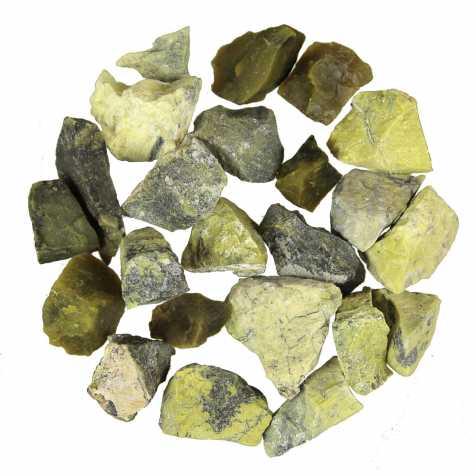 Pierres brutes serpentine - 2 à 5 cm - 100 grammes