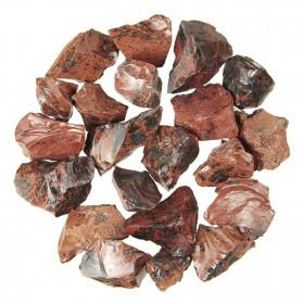 Pierres brutes obsidienne acajou - 3 à 5 cm - 100 grammes