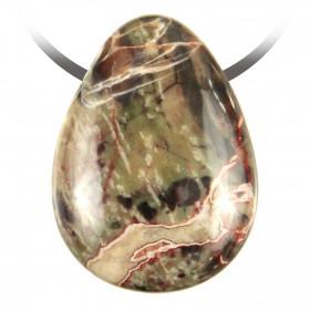 Pendentif goutte pierre percée en rhyolite