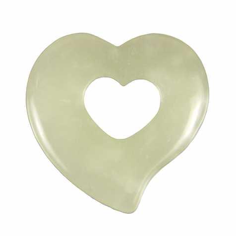 Pendentif donut coeur en jade de Chine