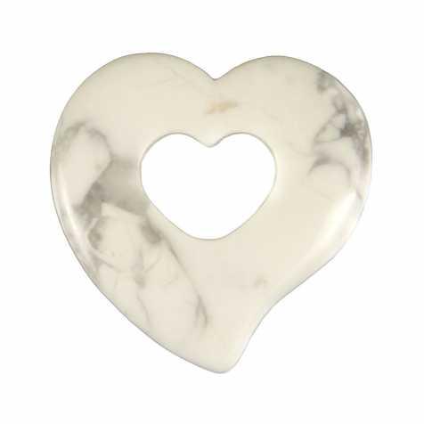 Pendentif donut coeur en howlite