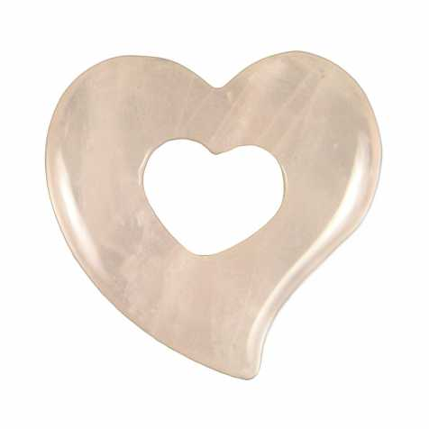 Pendentif donut coeur en quartz rose