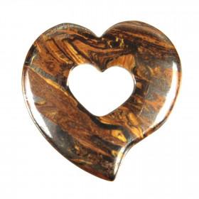 Pendentif donut coeur en oeil de fer