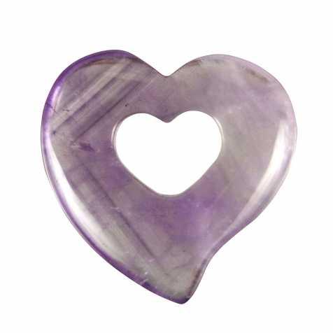 Pendentif donut coeur en améthyste
