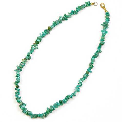 Collier de pierre en amazonite de Russie - perles baroques - 45 cm