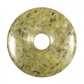Donut Pi Chinois en épidote pour pendentif