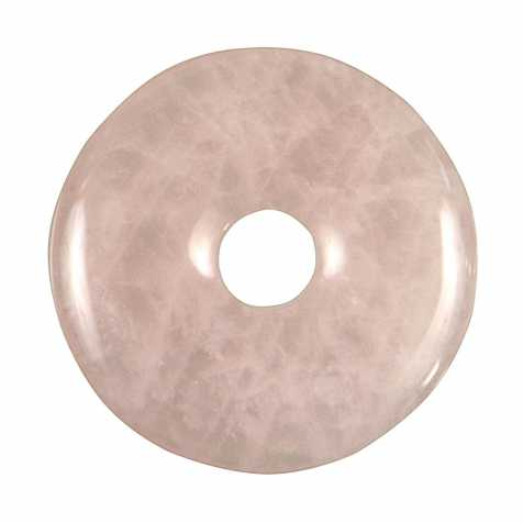 Donut Pi Chinois en quartz rose pour pendentif
