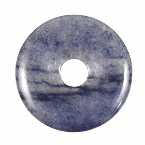 Donut Pi Chinois en quartz bleu pour pendentif