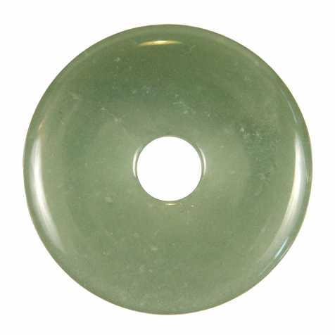 Donut Pi Chinois en aventurine verte pour pendentif