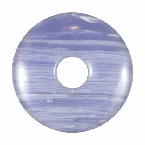 Donut Pi Chinois en calcédoine bleue pour pendentif