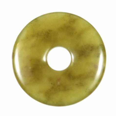 Donut Pi Chinois en lizardite pour pendentif