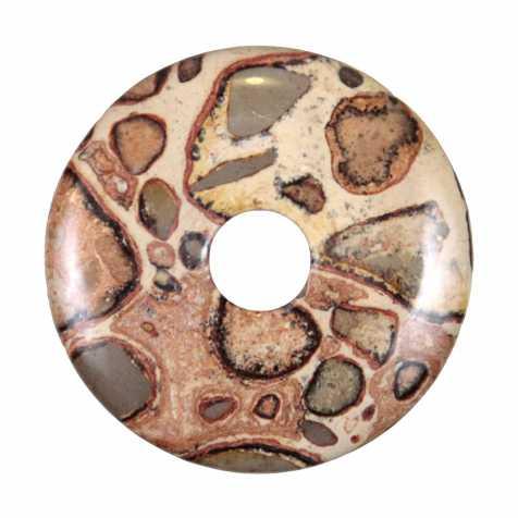 Donut Pi Chinois en leopardite pour pendentif