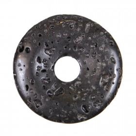 Donut Pi Chinois en pierre de lave pour pendentif