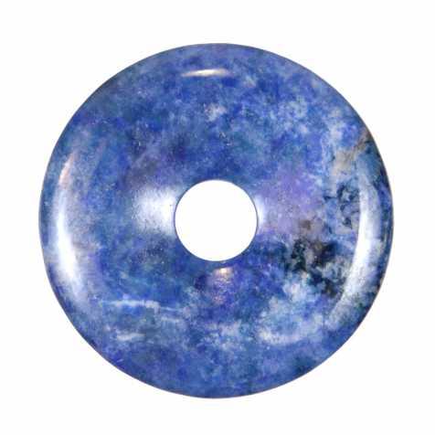 Donut Pi Chinois en lapis lazuli pour pendentif