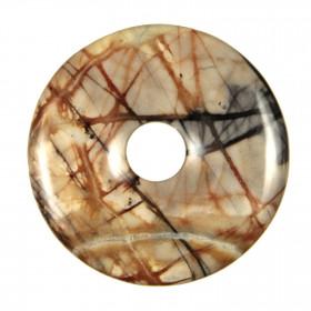 Donut Pi Chinois en jaspe picasso pour pendentif