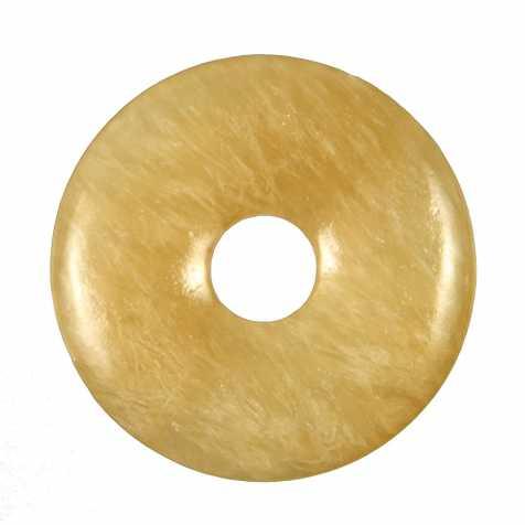 Donut Pi Chinois en calcite orange pour pendentif