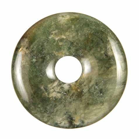Donut Pi Chinois en agate mousse pour pendentif