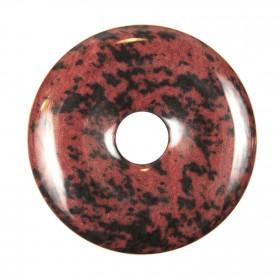 Donut Pi Chinois en obsidienne acajou pour pendentif