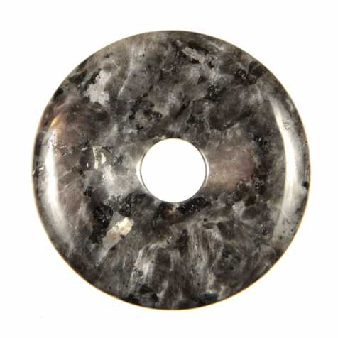 Donut Pi Chinois en larvikite pour pendentif