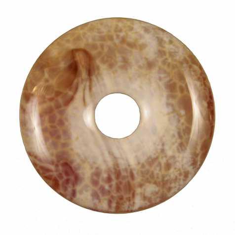 Donut Pi Chinois en agate de feu pour pendentif