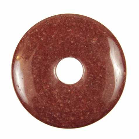 Donut Pi Chinois en cristal hématoïde pour pendentif