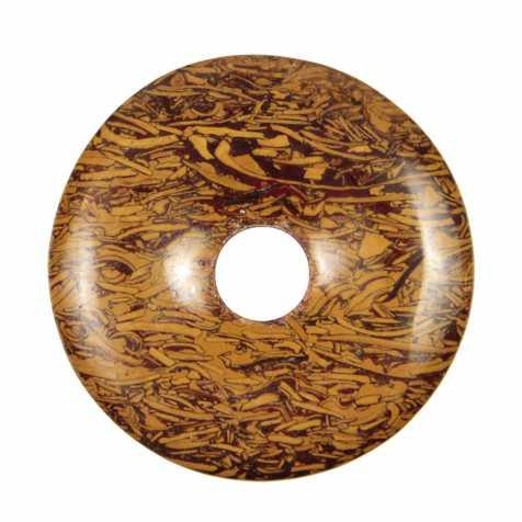 Donut Pi Chinois en jaspe peau de serpent pour pendentif