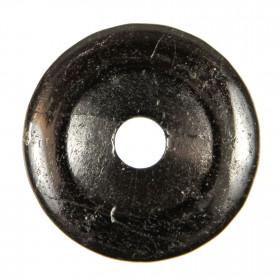 Donut Pi Chinois en tourmaline noire pour pendentif