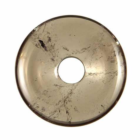 Donut Pi Chinois en cristal fumé pour pendentif