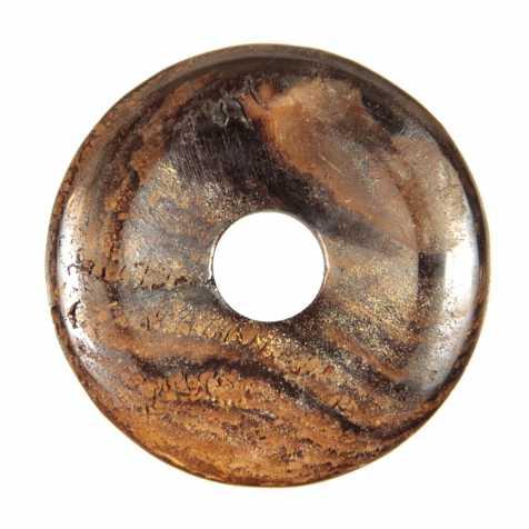 Donut Pi Chinois en roche mère d'opale boulder pour pendentif