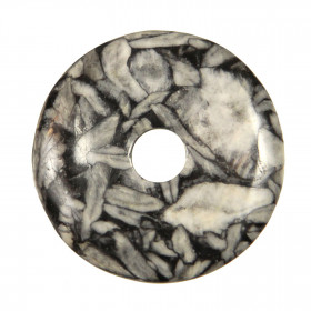 Donut Pi Chinois en pinolite pour pendentif