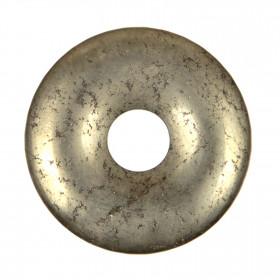 Donut Pi Chinois en pyrite pour pendentif
